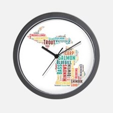 MichiganFishing Wall Clock