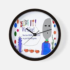 Obama Care Aliens Wall Clock