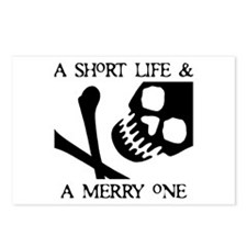 Pirate Short Merry Life Postcards (Package of 8)