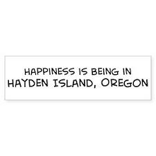 Hayden Island - Happiness Bumper Bumper Sticker