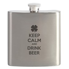 Keep calm and drink beer Flask