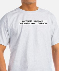 Cascade Summit - Happiness Ash Grey T-Shirt