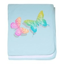 colorful abstract butterflies with shadow baby bla