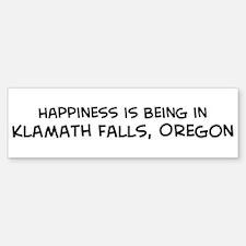 Klamath Falls - Happiness Bumper Bumper Bumper Sticker
