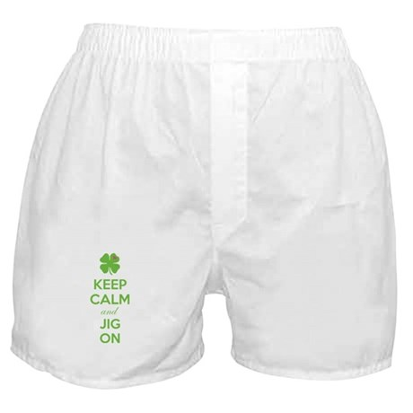 Keep calm and jig on Boxer Shorts