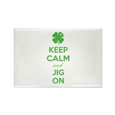 Keep calm and jig on Rectangle Magnet