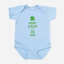 Keep calm and jig on Infant Bodysuit