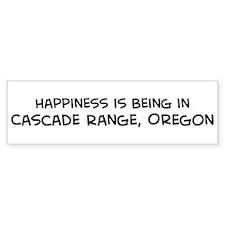 Cascade Range - Happiness Bumper Bumper Sticker