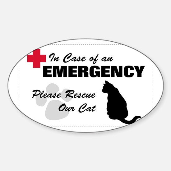Cat Rescue Rectangle Decal