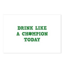 Drink Like A Champion Today Postcards (Package of