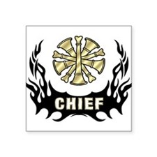 Fire Chief Tattoo Flame Sticker