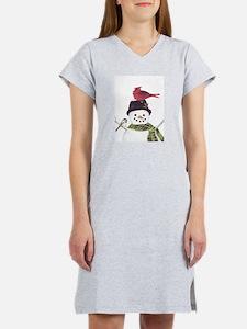Cardinal Snowman Women's Nightshirt