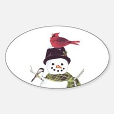 Cardinal Snowman Decal