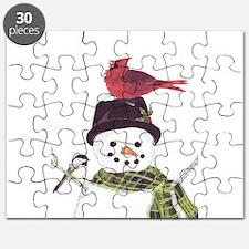 Cardinal Snowman Puzzle
