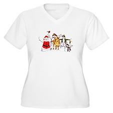 Snowman Gathering Plus Size T-Shirt