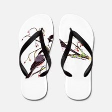 Male and Female Chickadees Flip Flops
