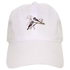 Male and Female Chickadees Baseball Cap