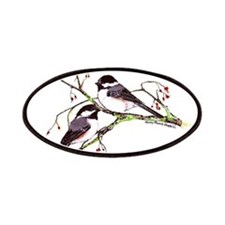 Male and Female Chickadees Patches