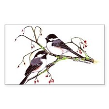 Male and Female Chickadees Decal