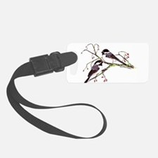 Male and Female Chickadees Luggage Tag