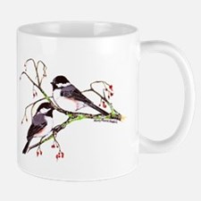 Male and Female Chickadees Mug