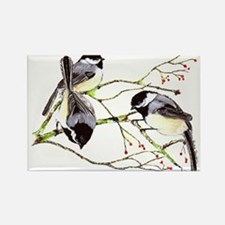 Chickadee gathering Rectangle Magnet