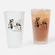 Chickadee gathering Drinking Glass
