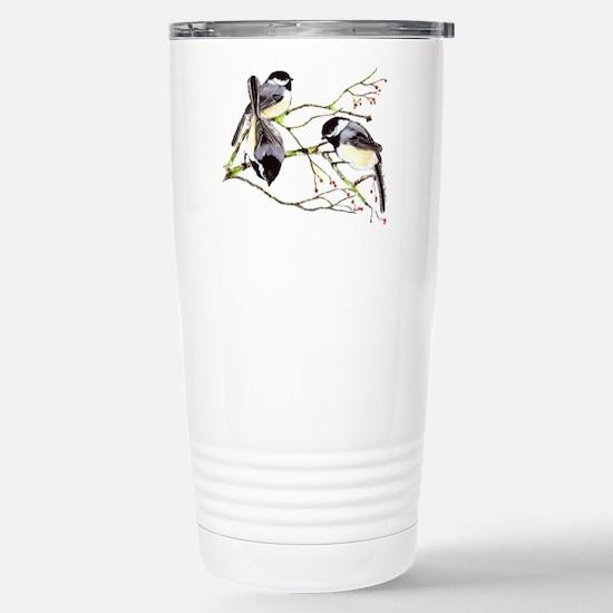 Chickadee gathering Travel Mug