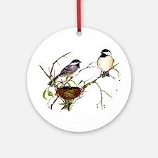 Chickadee inspection Ornament (Round)