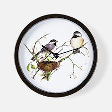 Chickadee inspection Wall Clock