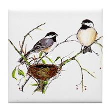 Chickadee inspection Tile Coaster