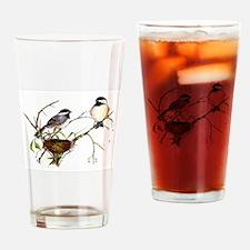 Chickadee inspection Drinking Glass