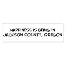 Jackson County - Happiness Bumper Bumper Sticker