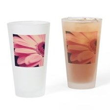 Pretty Pink Gerbera Daisy Drinking Glass