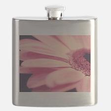 Pretty Pink Gerbera Daisy Flask