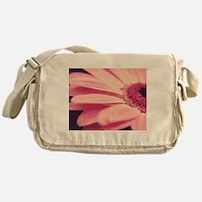 Pretty Pink Gerbera Daisy Messenger Bag