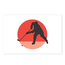 Hockey Player Silhouette Postcards (Package of 8)