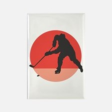 Hockey Player Silhouette Rectangle Magnet