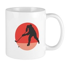 Hockey Player Silhouette Mug
