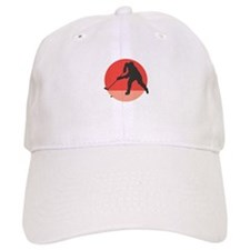 Hockey Player Silhouette Baseball Cap