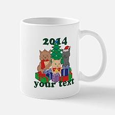 Personalized Christmas Cats Mug