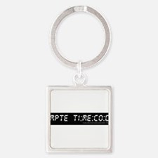 SMPTE Time Code Square Keychain