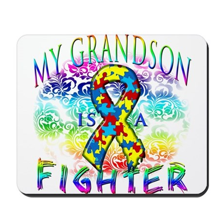 My Grandson Is A Fighter Mousepad