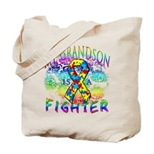My Grandson Is A Fighter Tote Bag