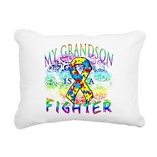 My Grandson Is A Fighter Rectangular Canvas Pillow