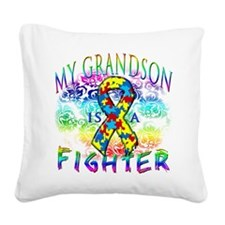 My Grandson Is A Fighter Square Canvas Pillow