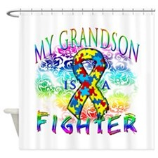 My Grandson Is A Fighter Shower Curtain