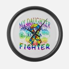 My Daughter Is A Fighter Large Wall Clock
