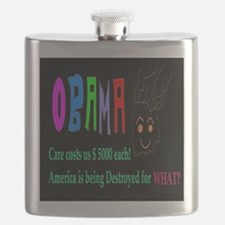Obama and Americans Flask