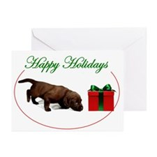 Chocolate Lab Puppy Christmas Cards (Pk of 10)
